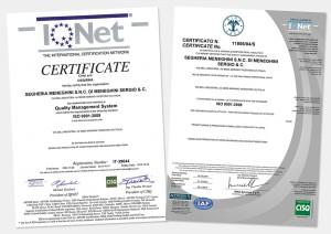 Segheria Meneghini Certificati IQNet e RINA