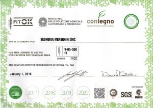Segheria Meneghini Certificato FITOK